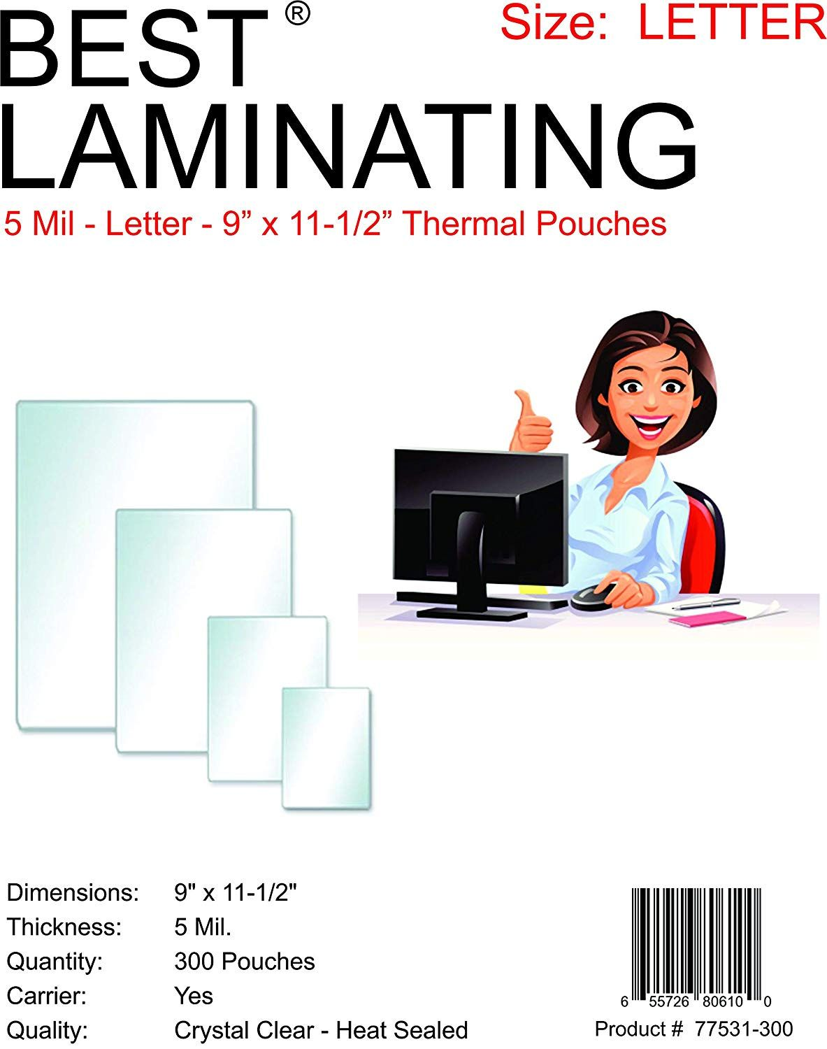 Best Laminating 5 Mil Clear Letter Size Thermal Laminating Pouches 9 X 11 5 Inches 300 Pouches Visit The I Interactive Learning Teaching Numbers Teaching