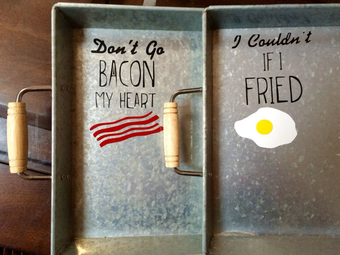 His and Hers Breakfast Trays