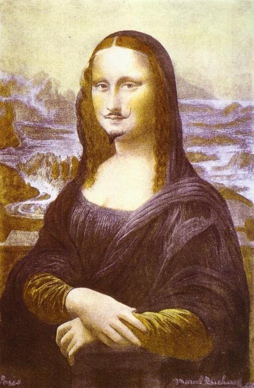 Mona Lisa com Bigode, de Marcel Duchamp (1919)
