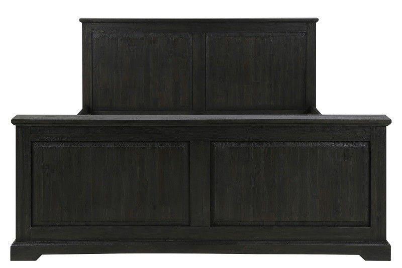 Nyon Sengeramme - Elegant sengeramme i sortmalet massiv akacie-træ med klar lak som giver møblet et flot finish. Sengen er udført i robuste kvalitetsmaterialer hvor den klare lak beskytter træet og malingen mod slitage. Der er god luft under sengen som giver gode opbevaringsmuligheder, f.eks. til sengekasser m.m. Pift soveværelset op med denne rustikke og klassiske sengeramme. Madras medfølger ikke, men kan tilkøbes.