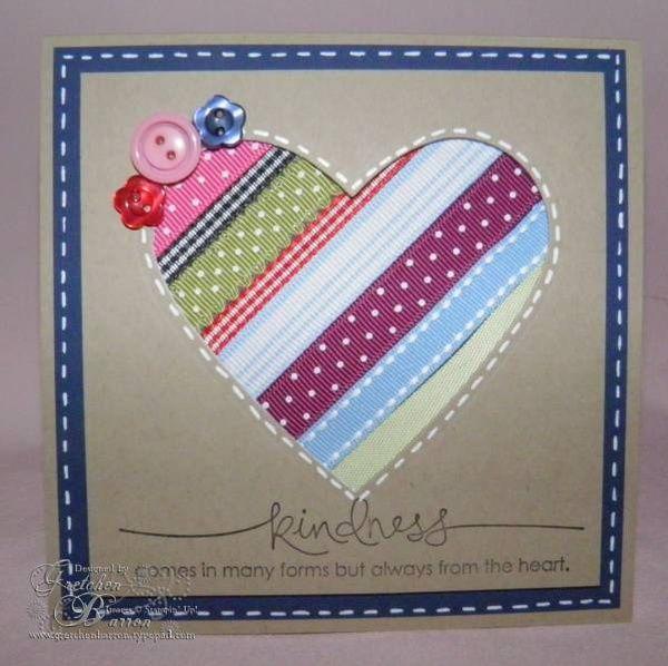 Card Making Ideas With Ribbon Part - 42: Card Using Extra Ribbon. Card-making-samples