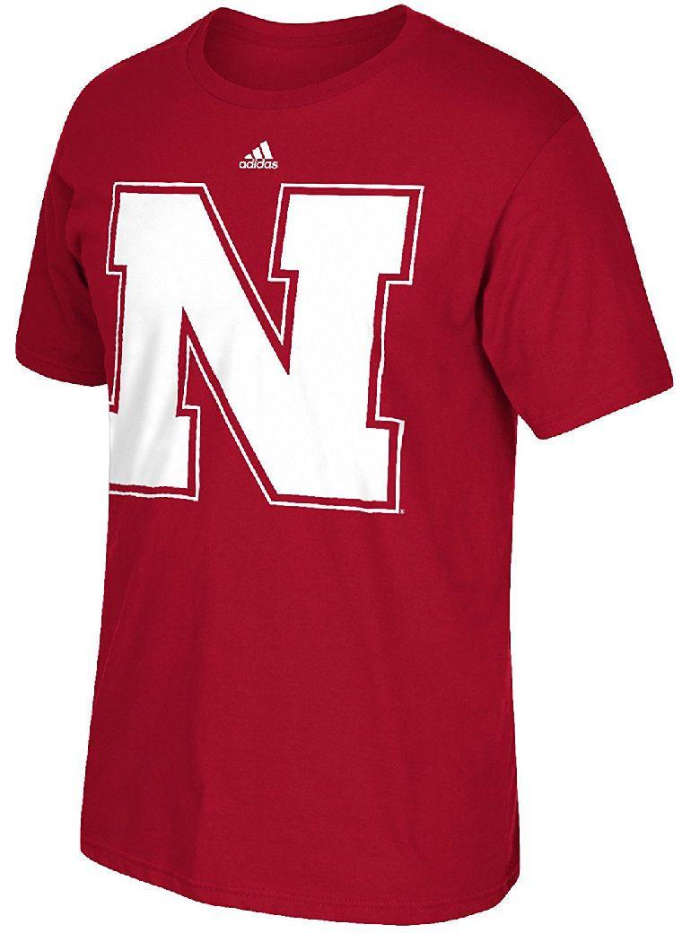 Adidas Nebraska Cornhuskers Red Synthetic Huge Preferred Logo Climalite T  Shirt $27.95