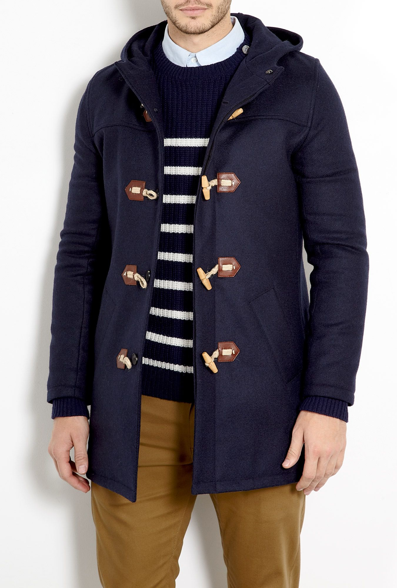 Dark Navy Melton Duffle Coat by A.P.C | A P P A R E L | Pinterest ...