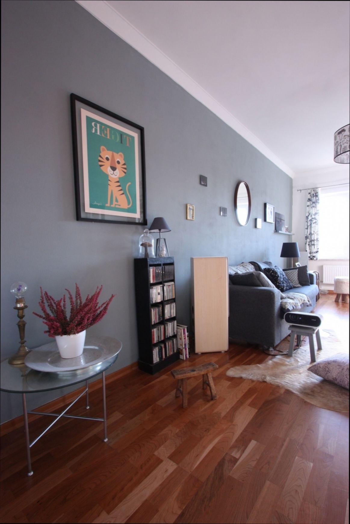 Stilvoll Wohnzimmer Wand Grau
