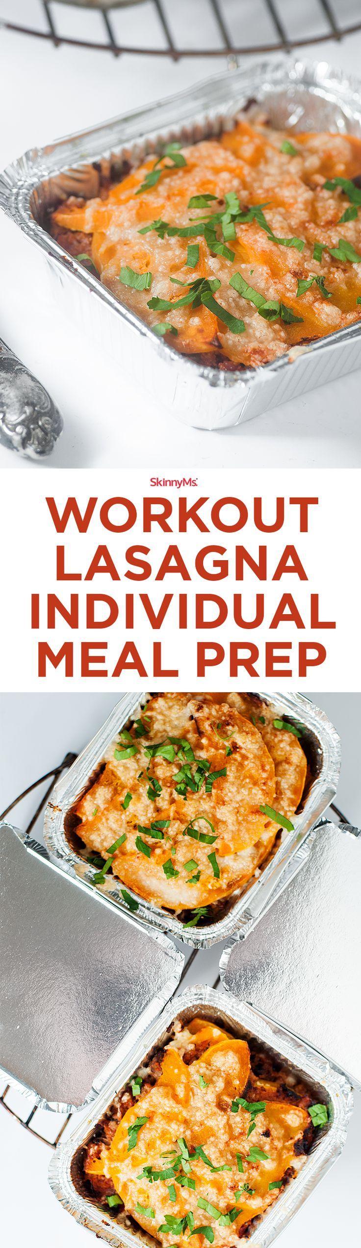 Workout Lasagna Individual Meal Prep