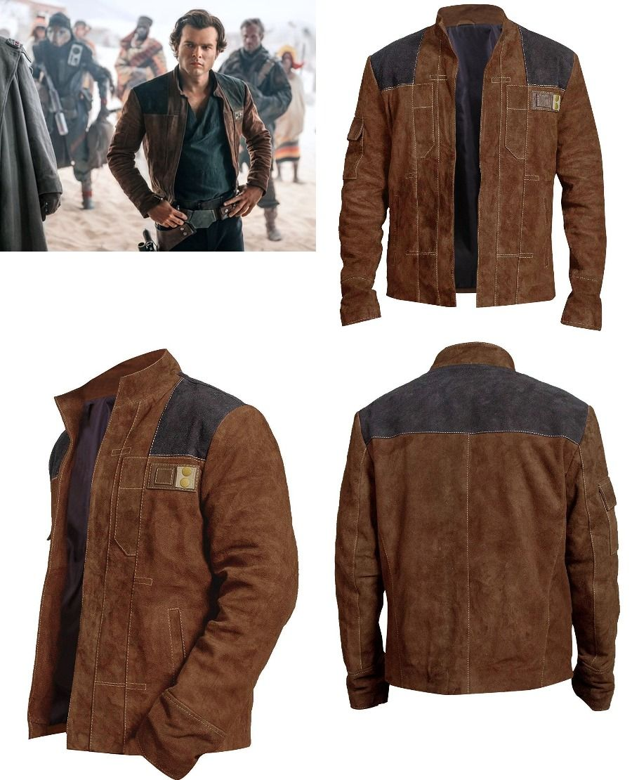 Men S Han Solo A Star Wars Story Jacket Brown Suede Leather Biker Jacket Leather Biker Jacket Biker Jacket Stylish Jackets [ 1110 x 900 Pixel ]