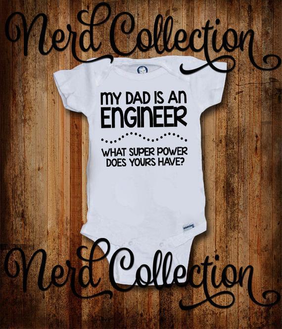 Daddy Work On Cars Baby Onesie Shirt Dad Father Shower Gift Newborn Gerber