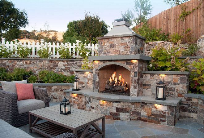 Fire Place Design Concepts For An Elegant Exterior Space In 2020