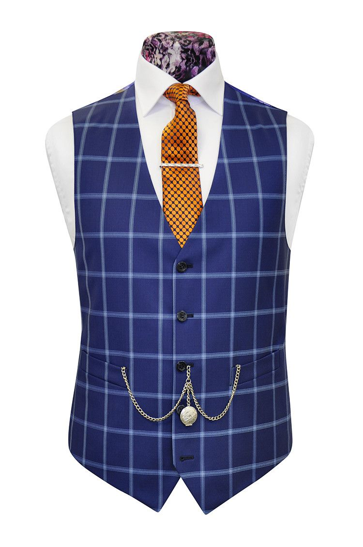The Caldwell French Navy with Cobalt Blue Overcheck William Hunt