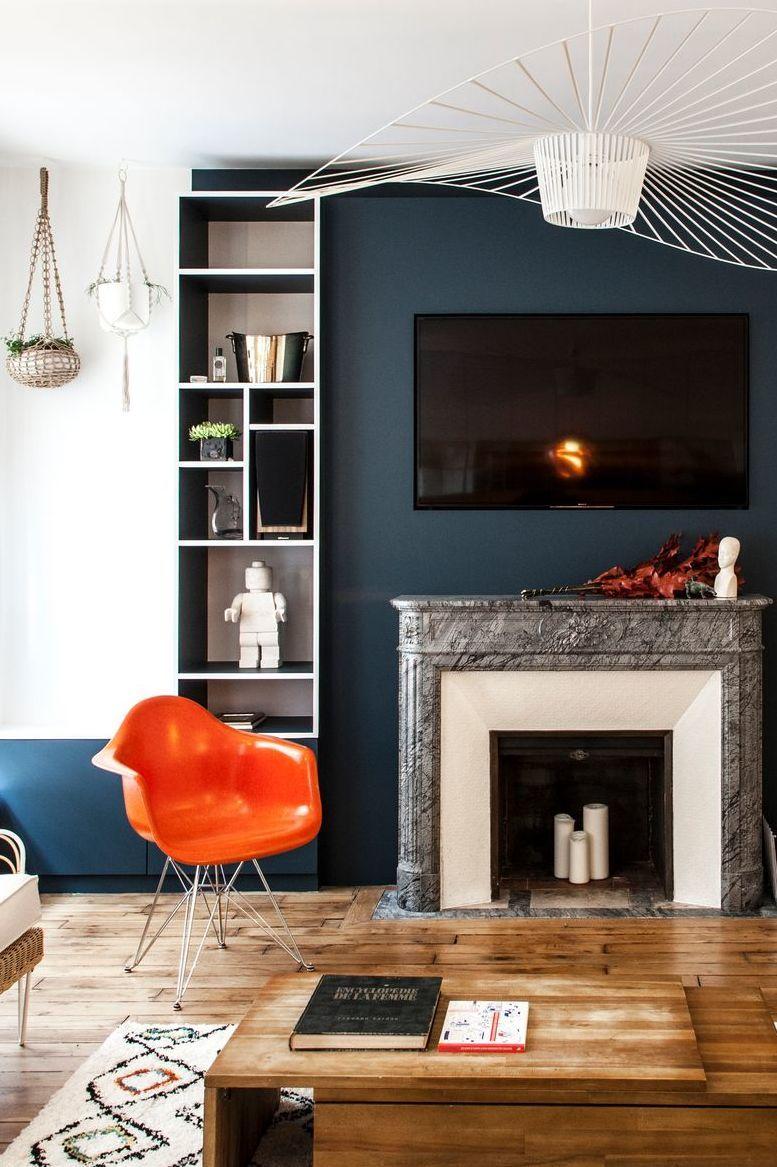 Peinture petit salon : idées couleurs  Couleur mur salon, Idee