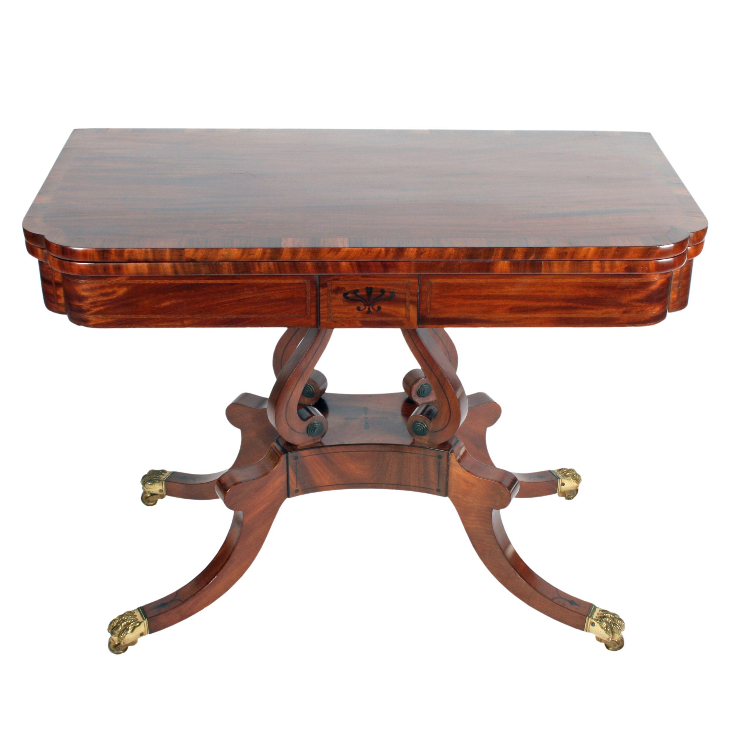 Antique regency mahogany tea table antique card tables uk antique - Regency Card Table Attributed To William Trotter C Tableantique