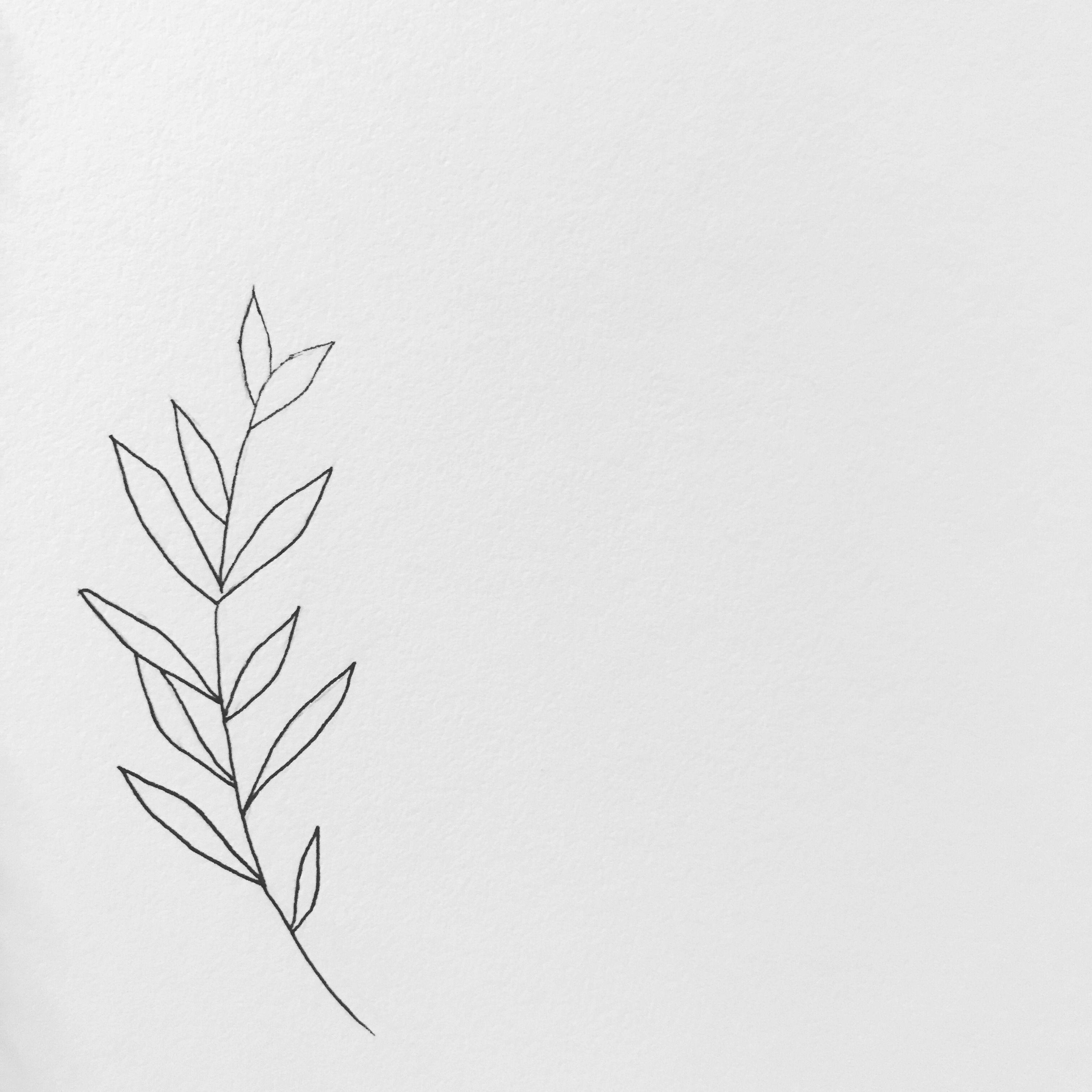 Minimalist Simple Leaf Tattoo: #minimalist #blackandwhite #pen #sketchbook #micronpen