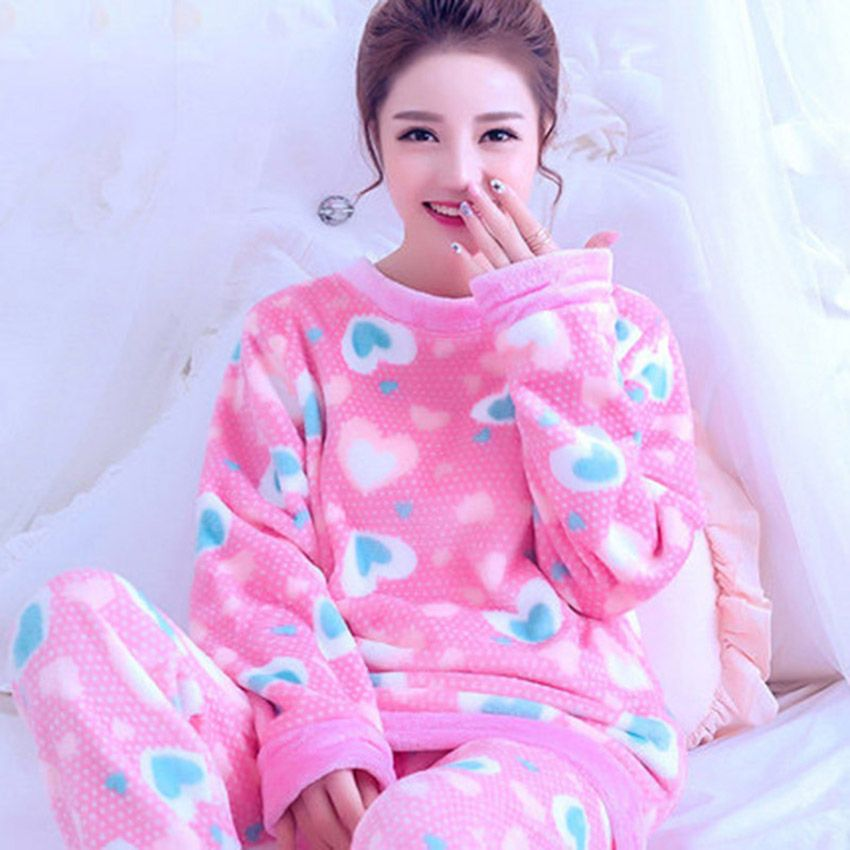 f8c0c46a8 Cheap fleece sleepwear, Buy Quality winter woman pajamas directly from  China women pajamas Suppliers: Autumn Winter Women Pajamas Coral Fleece  Sleepwear ...