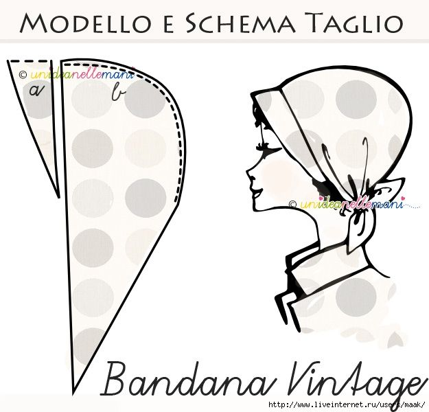 bandana-faidate1 | marilin | Pinterest | Costura, Gorros y Molde