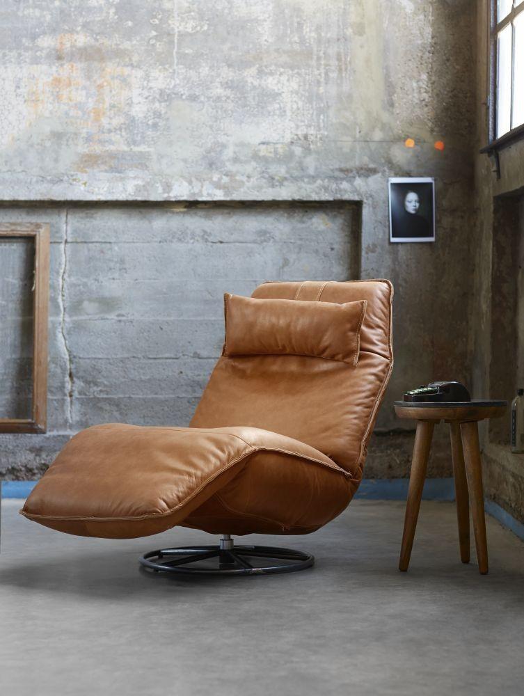 Industriële relaxfauteuils & fauteuils in cognac kleur