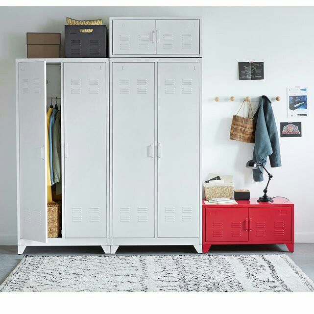 armoire m tallique blanche la redoute meubles. Black Bedroom Furniture Sets. Home Design Ideas