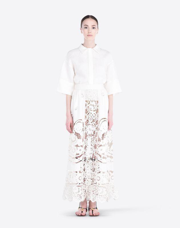 Plain weave,Solid colour,Classic Neckline,Hidden buttons,3/4 length sleeves,