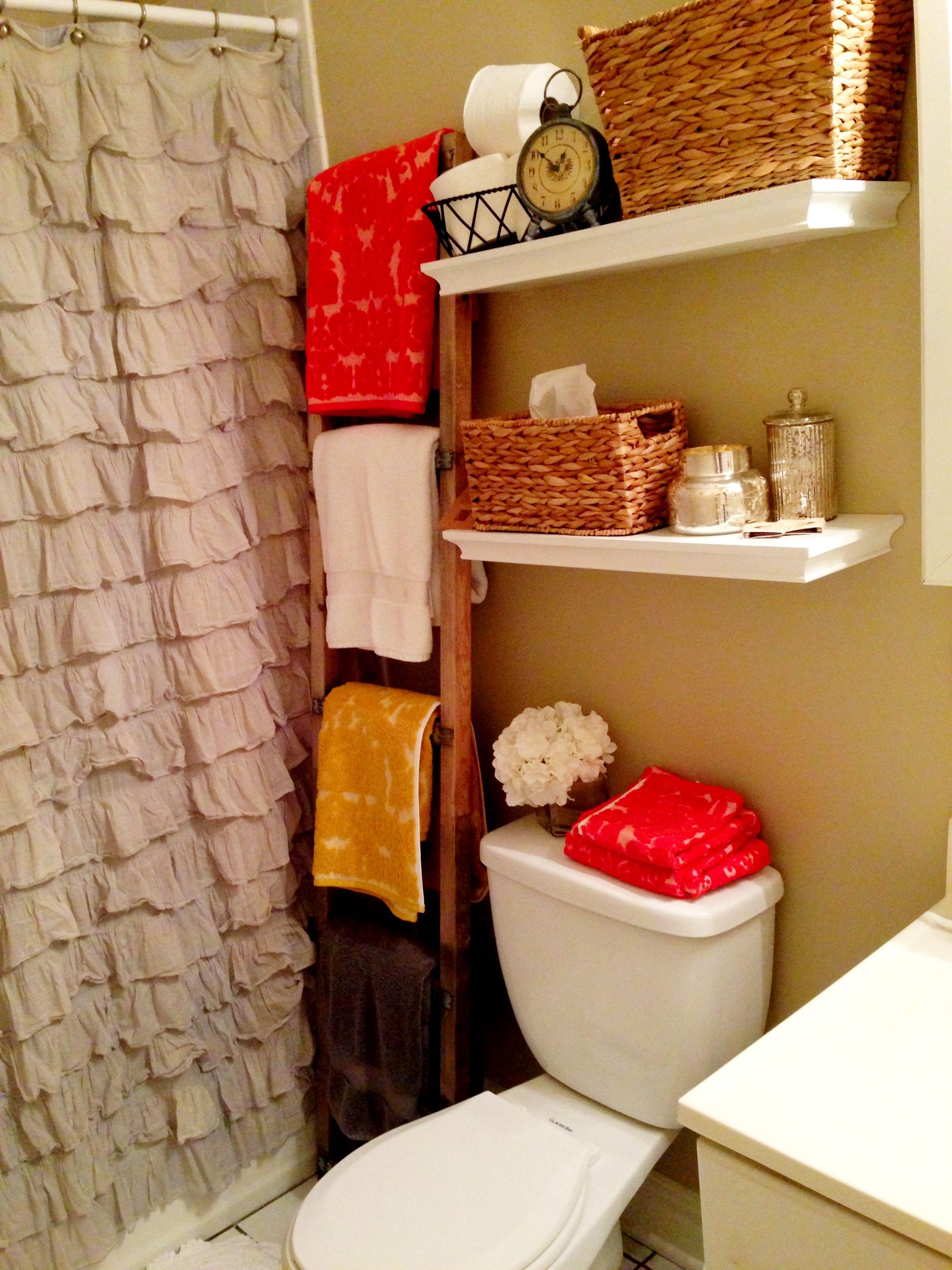New bathroom decor anthro home pinterest small ladder girly