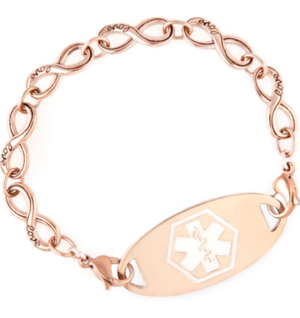 Fashionable Nickel Free Medical I D Bracelets