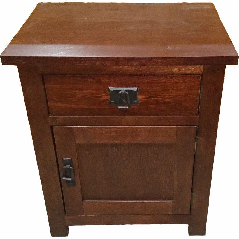 Solid Oak Timber Bedside Table In Dark Walnut Right | Buy Wooden Bedside  Tables