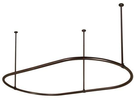 Orb Shower Curtain Rod.Barclay 7152 72 Orb 72 Oval Shower Curtain Ring Oil Rubbed Bronze