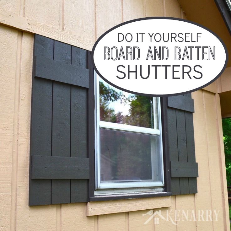 board and batten shutters an easy diy tutorial rustic charm