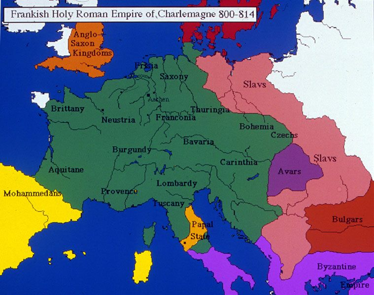 Charlemagne's Frankish Holy Roman Empire 800-814