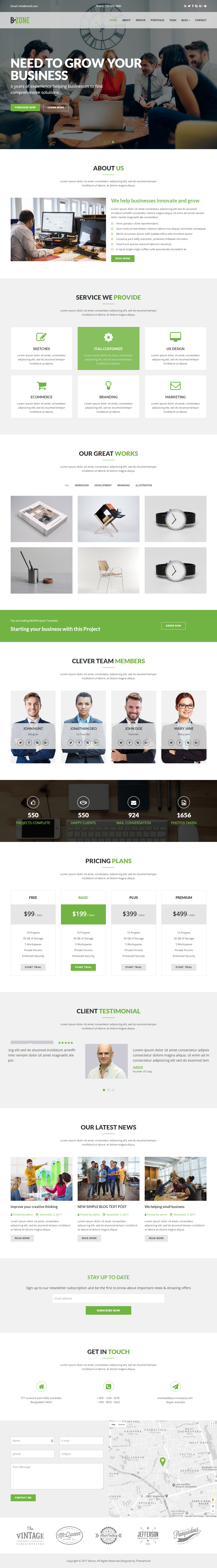 BZONE Multipurpose e Page HTML5 Template