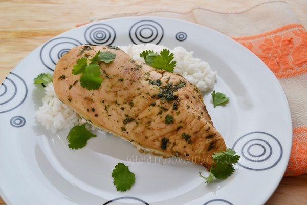 Pollo con cilantro y miel
