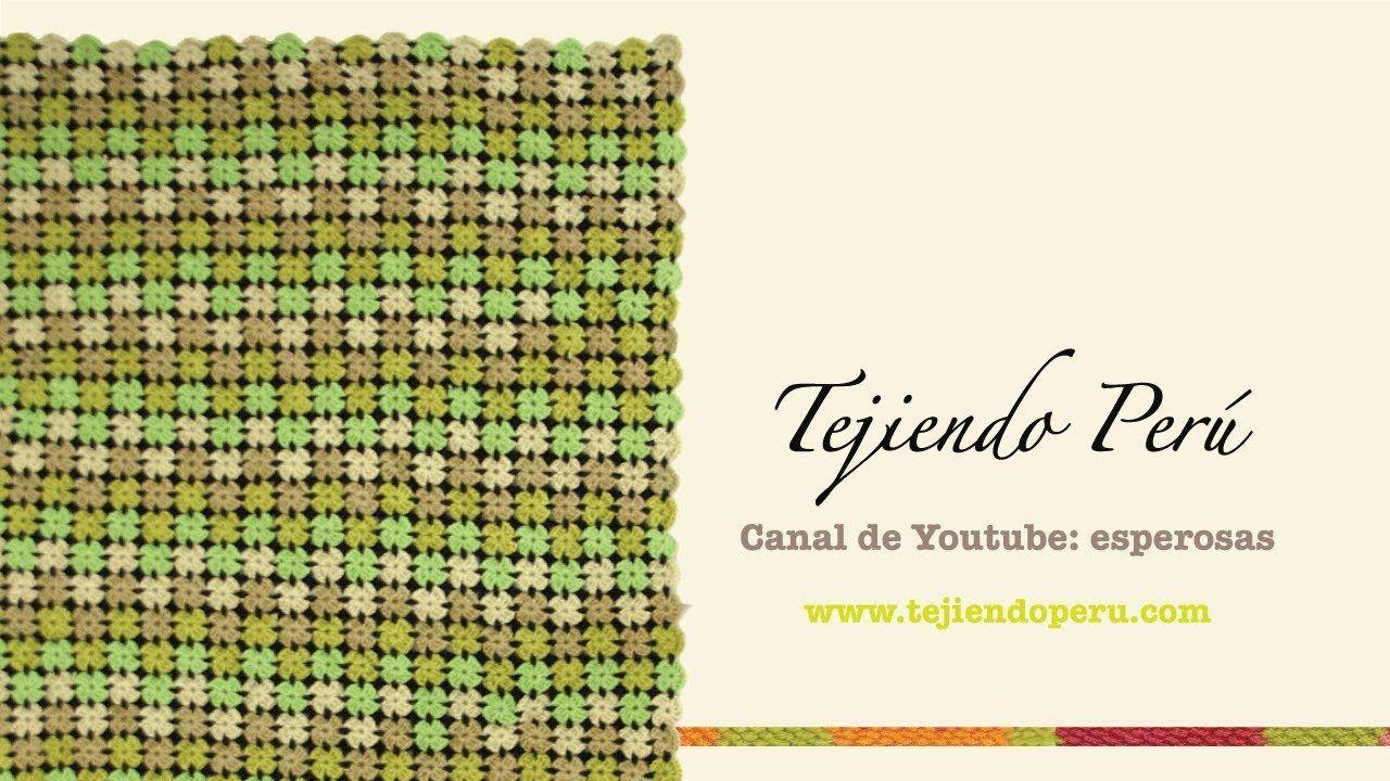 Visita mi página: http://www.tejiendoperu.com/ y encontrarás muchos tutoriales más! Con estas flores pequeñas hicimos una abrigadora manta o colcha que puede...