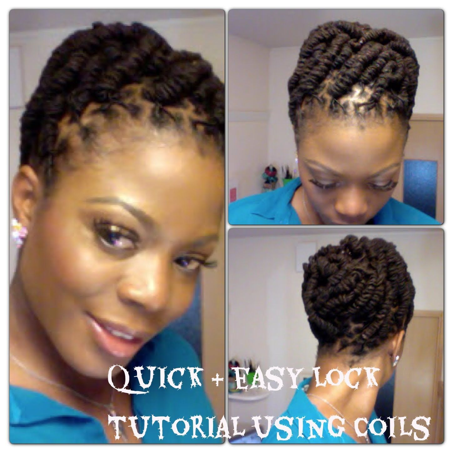 Simple And Quick Lock Hairstyle Using Coils Unique Wedding Hairstyles Hair Locks Hair Styles