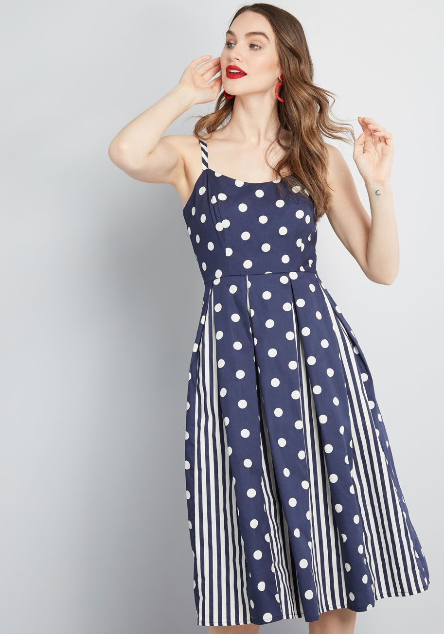 b4c6dc081e54 Celebrated Style Fit and Flare Dress in 2019 | Modcloth | Dresses ...