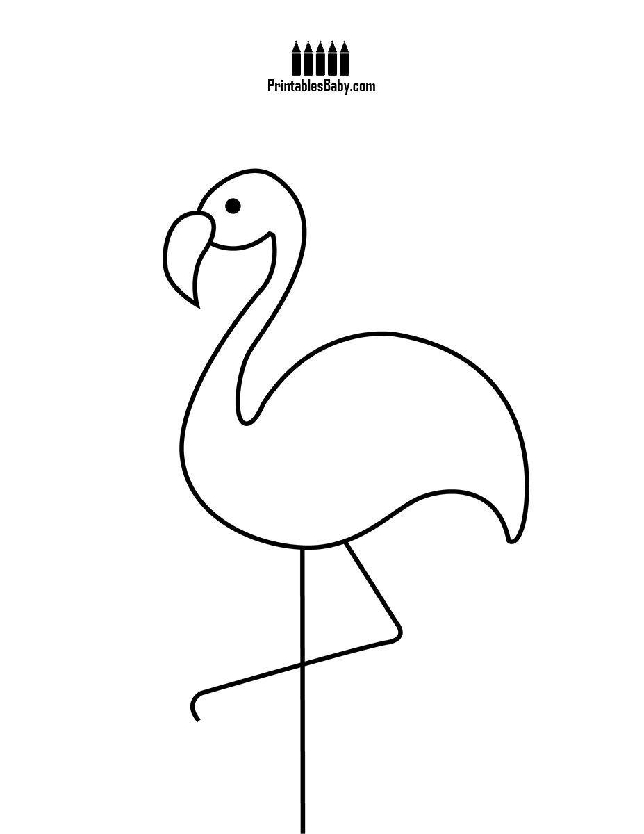 Pink Flamingo Printables Baby Free Printable Posters And Coloring Pages Flamingo Coloring Page Coloring Pages Flamingo Printables