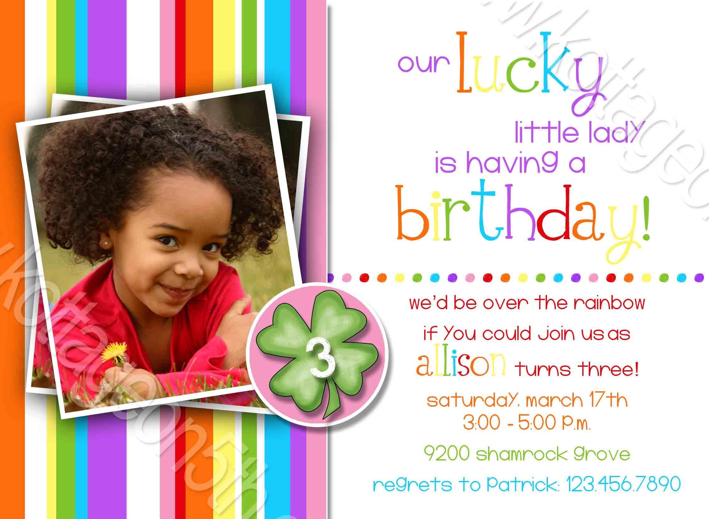 Lucky Lady 2 Rainbow Stripes St Patrick s Birthday Any Age