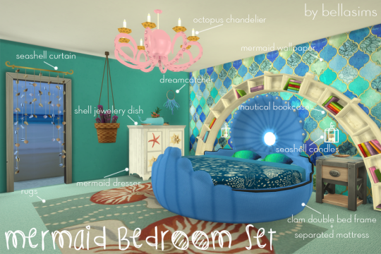 Bellassims Sims4 Object Bed シムズ、子供、部屋