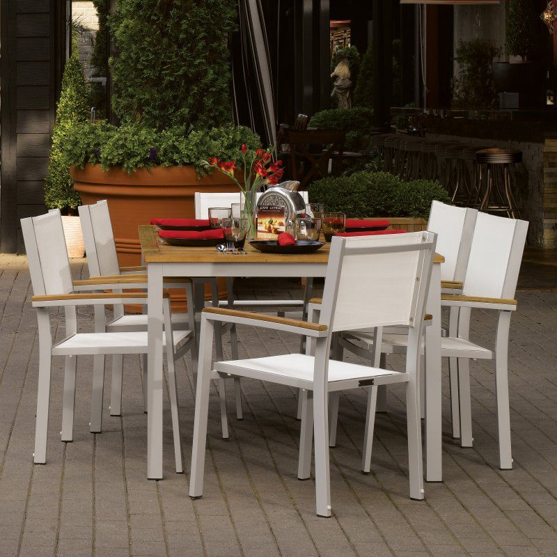 Outdoor Oxford Garden Travira 63 in Patio Dining Set Seats 6