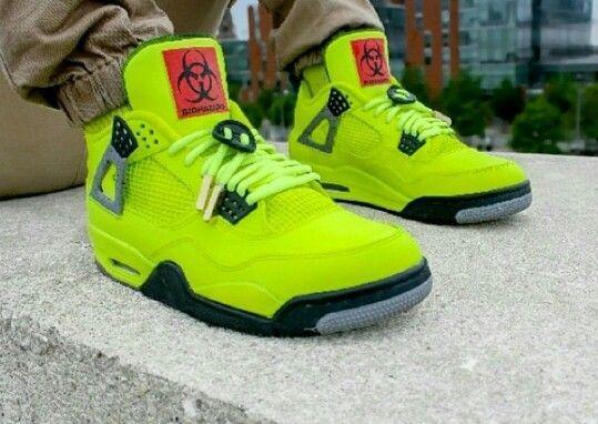 Cheap Online 2015 Nike Jordan 4 Cheap sale Biohazard Custom