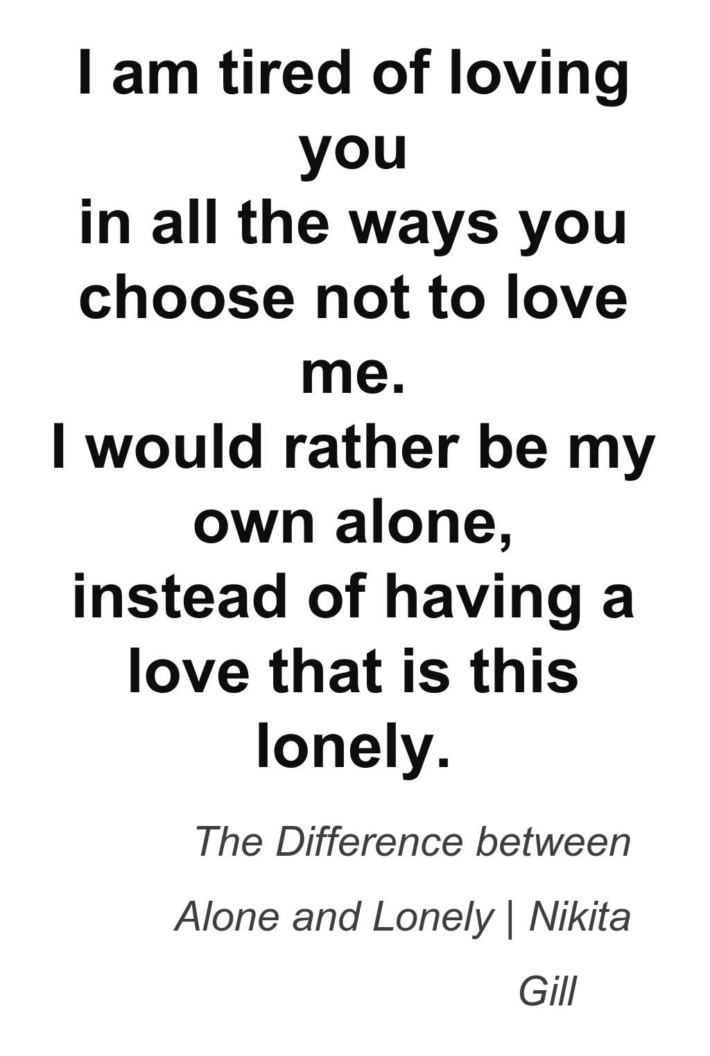 Image result for a difference between lonely and alone