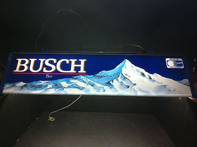 Gentil Busch Beer Pool Table Light BUSCH POOL LEAGUE, WORKS GREAT!