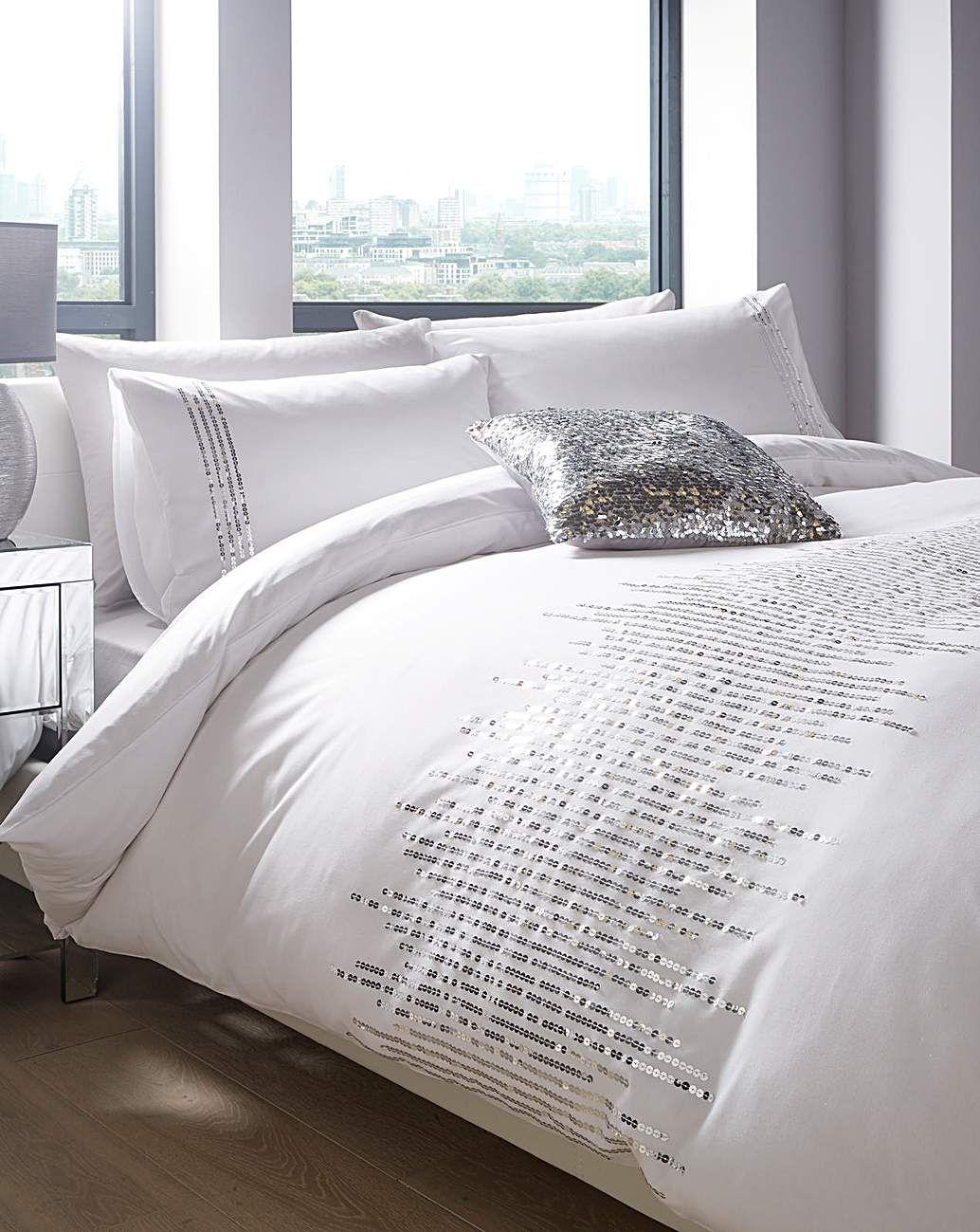 Luna Sequin Duvet Cover Set Home Essentials