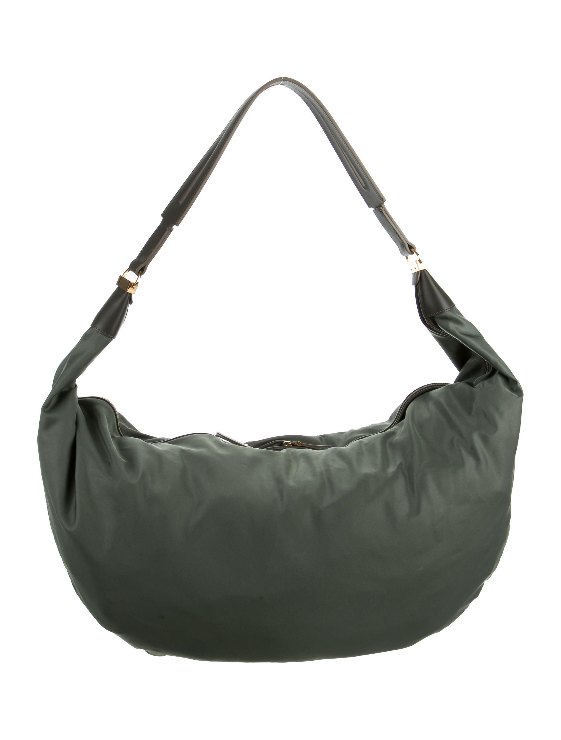 3c4e7c1386b4 Olive green nylon The Row Sling shoulder bag with gold-tone…