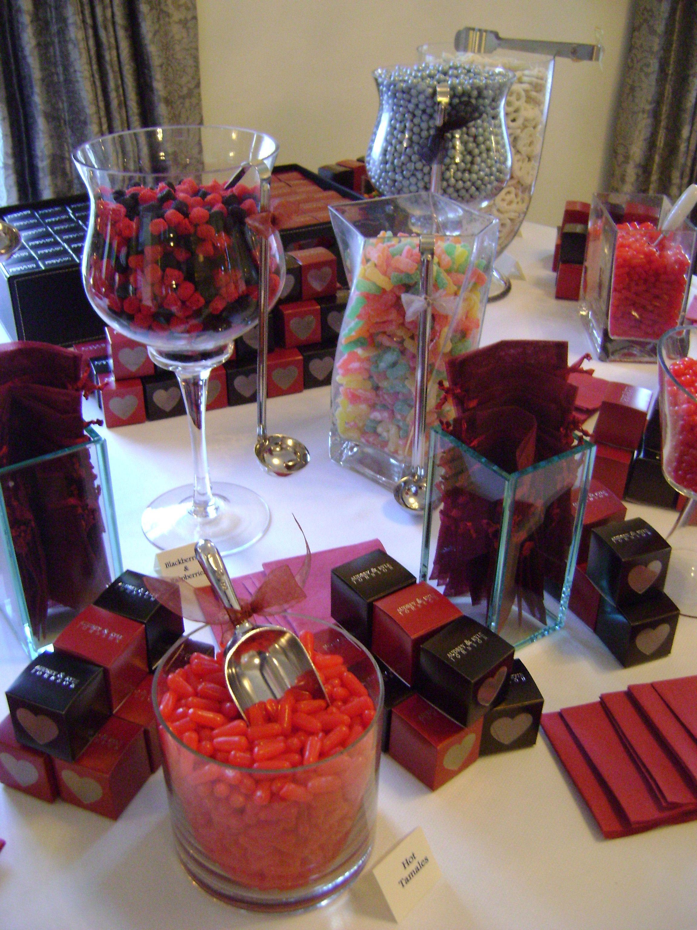 Red Black Candy Buffet Black Candy Buffet Candy Buffet Candy Bar Wedding