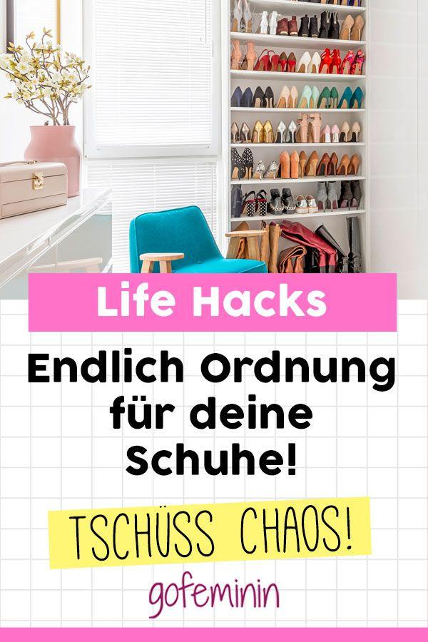 Chaos ad 6 tricks f r mehr ordnung im schuhschrank for Kuchenschranke organisieren