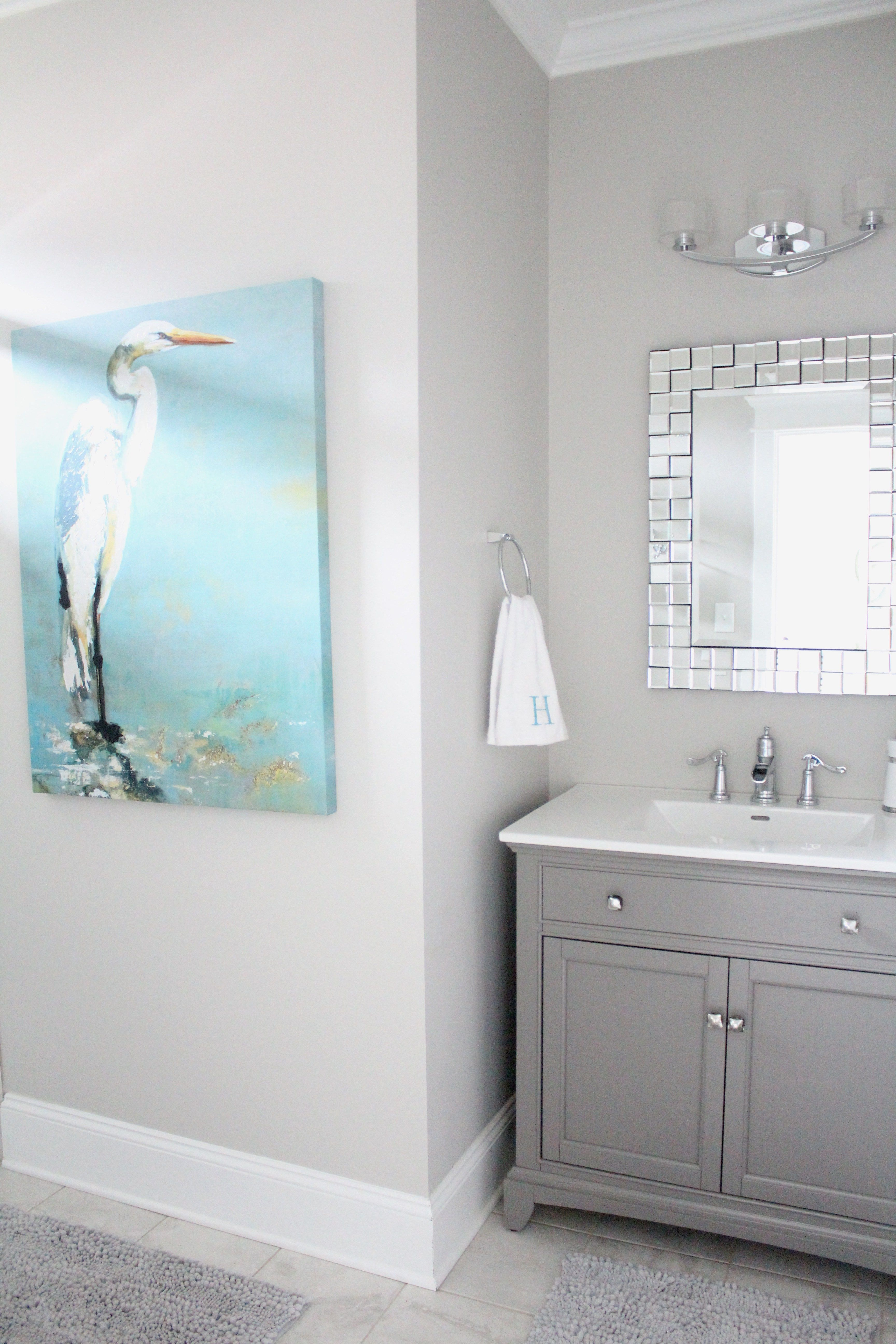 Home Of The Month Lake House Reveal Simple Stylings Bathroom Wall Colors Gray Bathroom Walls Bathroom Paint Colors