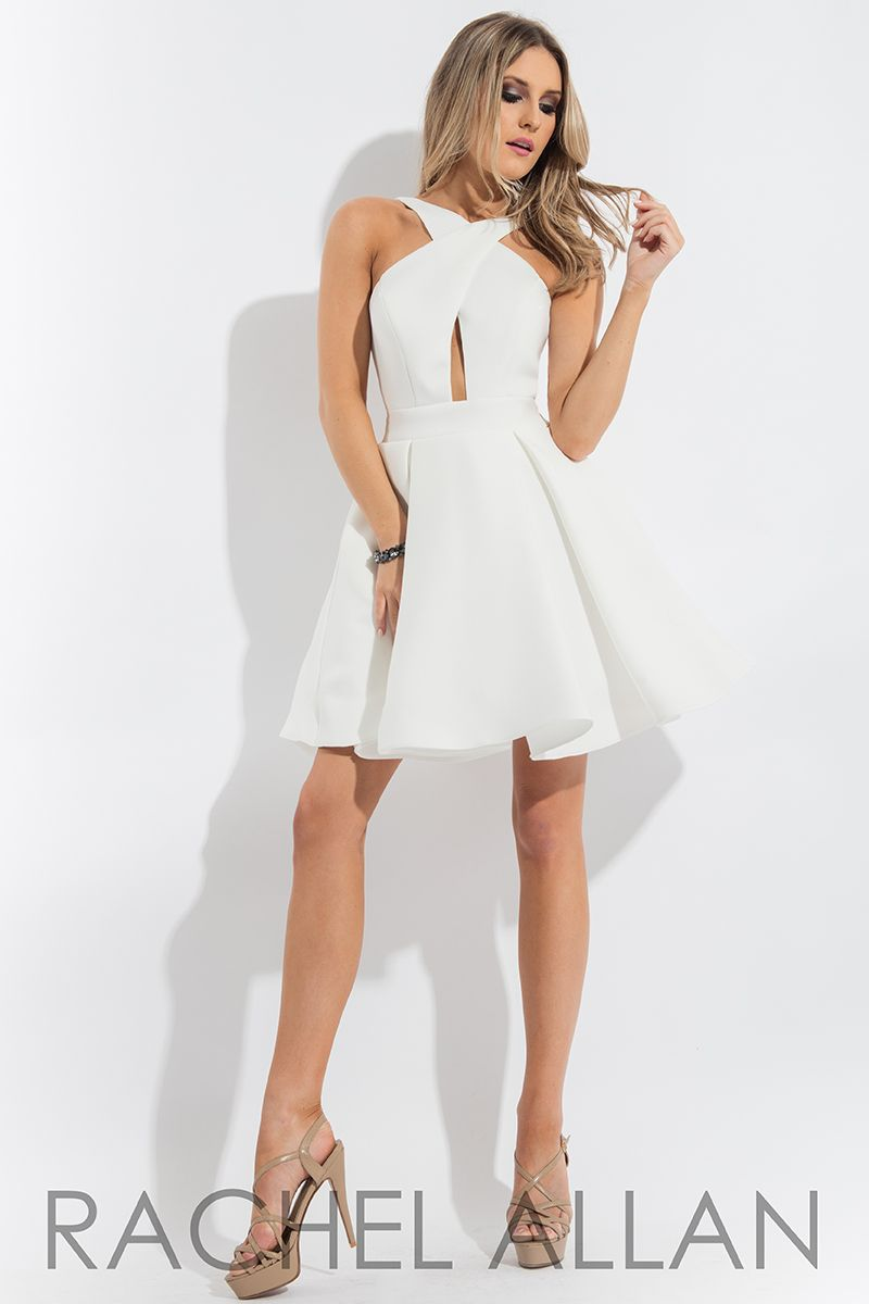 Solid neoprene aline with crisscrossed strap and keyhole cut out