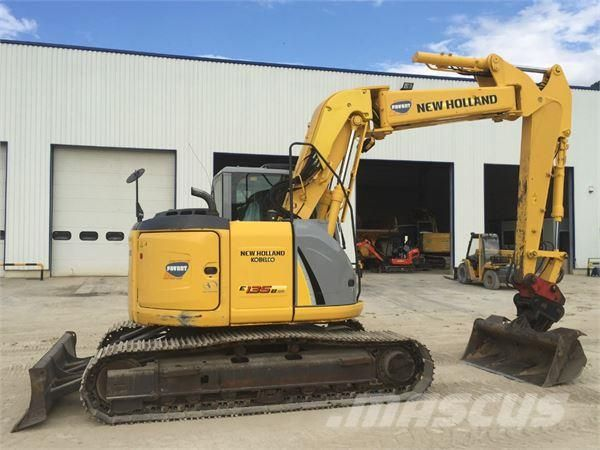 new holland hydraulic new holland e135bsr hydraulic excavator rh pinterest com Volvo Mini Excavator Volvo Backhoe