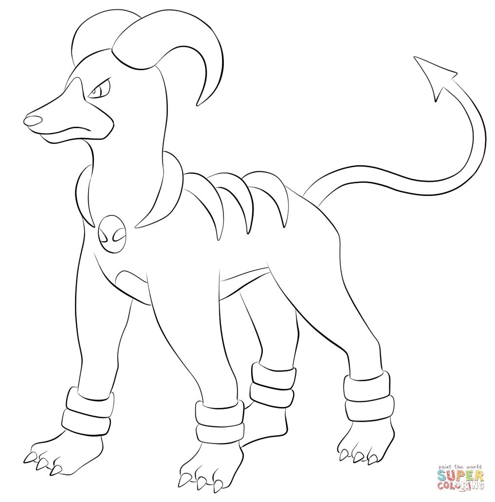 Houndoom Coloring Pages