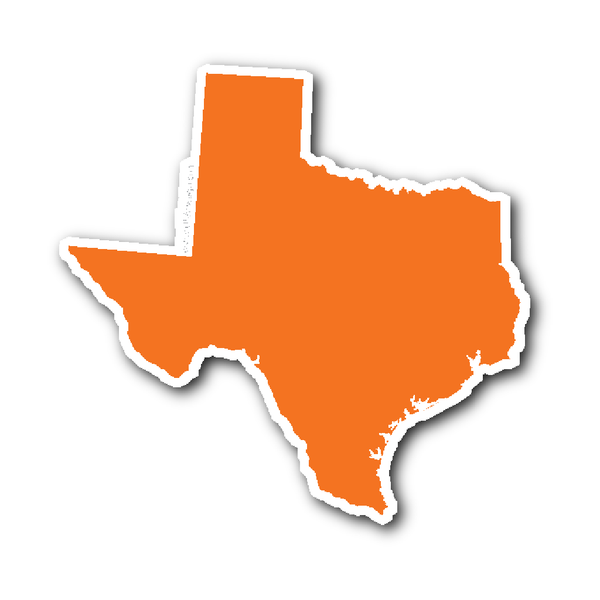 Texas State Shape Sticker Outline White Texas Stickers State Shapes Shapes