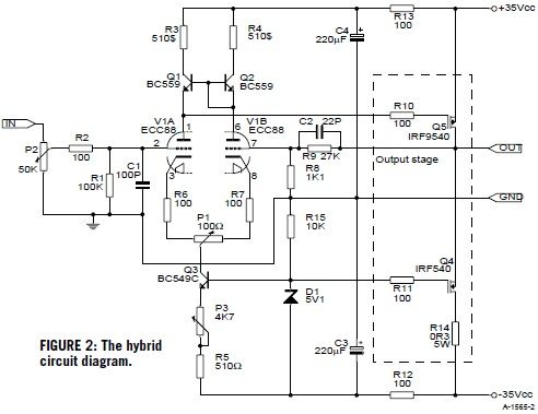 build a hybrid tube mosfet se amp sonoaudio pinterest audiophile rh pinterest com E38 Amplifier Diagram Transmitter Block Diagram