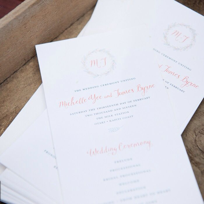 Sunny And Swoon Wedding Invites Stationery NZ Laurel Leopold Design